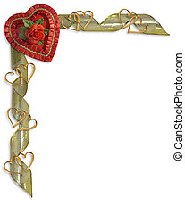 Valentine Candy Heart Border - Image and illustration...