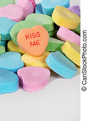 "Valentine Candy Hearts ""Kiss Me"""