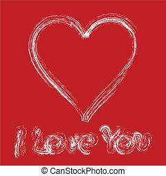 Valentine card 8 - Written declaration of love by white ...