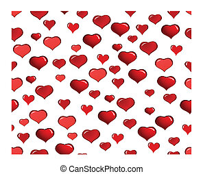 valentine card - St. Valentine Day greeting card with hearts...