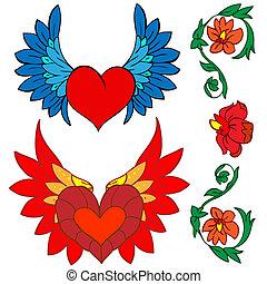 Valentine card decor.