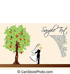 valentine card - illustration of valentine card with sample...