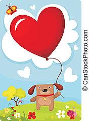 valentine card - Vector illustration of a valentine card