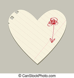 Valentine card from sheet of paper for your design