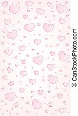 Valentine card hearts background