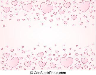 Valentine card hearts illustration background