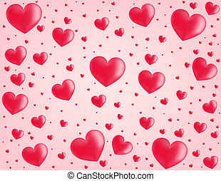 Valentine card hearts vector  backg