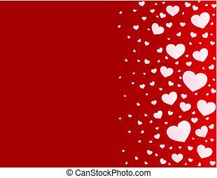 Valentine card hearts vector background - Valentine card...