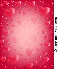 Valentine card hearts vector illust