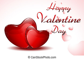 Valentine Card - illustration of valentine card on hearty...