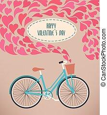 Valentine card with bike