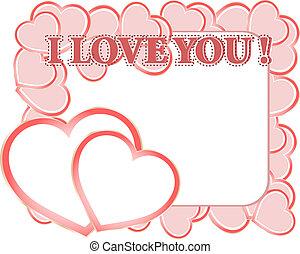 Valentine card with copyspace. love valentine day series