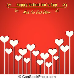 Valentine card with cute heart illustration vector