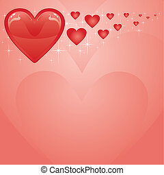 Valentine Card With Hearts II