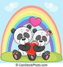 Lovers Pandas