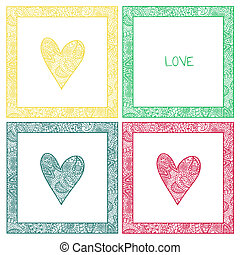 valentine card with paisley pattern heart