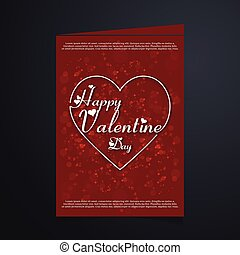 Valentine card with red pattern background