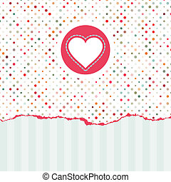 valentine, cartão, com, cópia, space., eps, 8