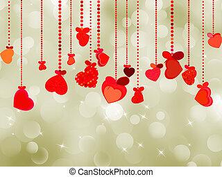 valentine, carte postale, eps, jour, 8, template.