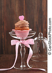 Valentine chocolate cupcake