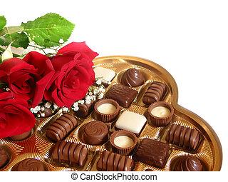 valentine, cholocate, caja