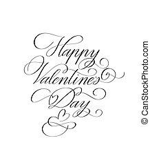 valentine, clásico, feliz, retro, día, diseño, romántico