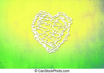 valentine, coloridos, cartão, rabisco, coração