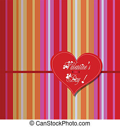 valentine colourful heart card