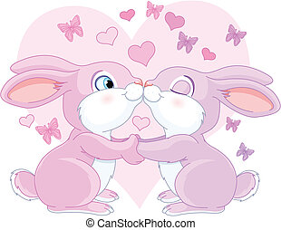 valentine, conejos
