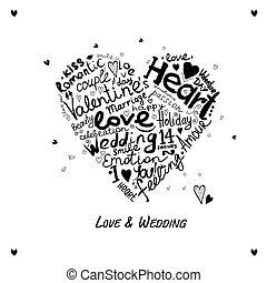 valentine, coração, esboço, para, seu, desenho