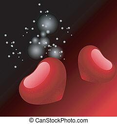 valentine, coração, ilustração