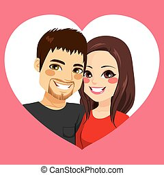Valentine Couple Heart Frame