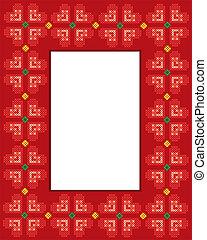 Valentine Cross stitch hearts frame