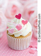 valentine, cupcake