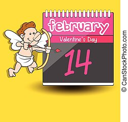 Valentine Cupid - Calendar Vector