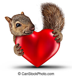Valentine Cute Squirrel