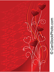valentine, czerwony