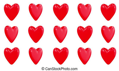 Valentine day 3d heart looped video pattern.
