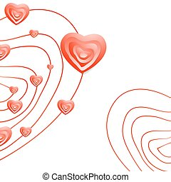 Valentine Day Abstract Heart Background