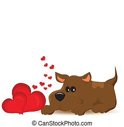 valentine day background. Vector illustration.