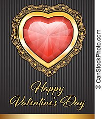 Valentine Day background with hearts