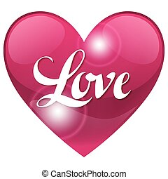 Valentine day background with word love and heart. Design greeting cards, banners. Concept for wedding invitation