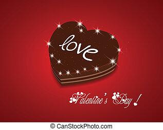 Valentine day be my sweet chocolate