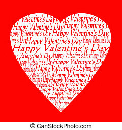 Valentine day card - heart filled valentine day card