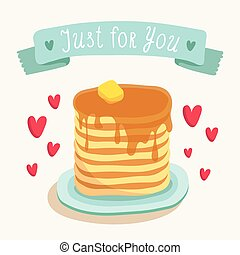 Valentine Day card, romantic meal - Valentine's Day greeting...