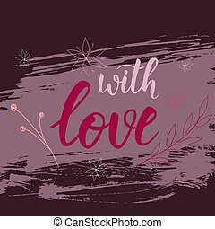 Valentine day card with florals