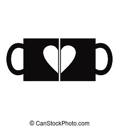 Valentine day couple cups