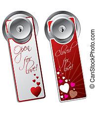 Valentine day door hangers - Valentine day door hanger set...