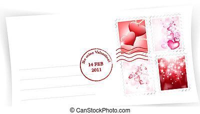 Valentine day envelope