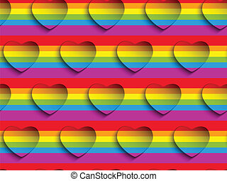 Valentine Day Gay Heart Seamless Pattern Background